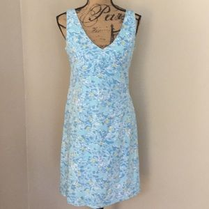 Lily Pulitzer fully lined blue cotton dress size 6